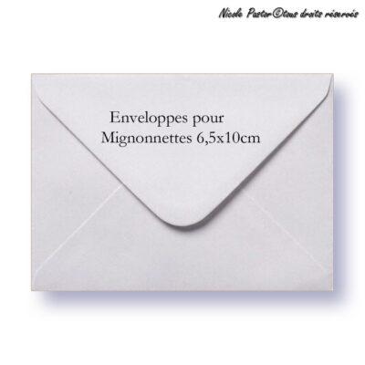 Enveloppe blanche gommée pour mignonnettes et mini cartes de vœux