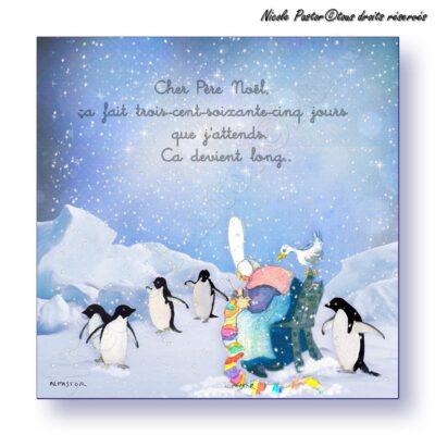 Carte vœux N. Pastor 2017. Message au Pere Noel
