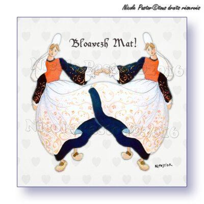 Bloavez Mat! Bonne Année! Danseuses bigoudènes en costume bigouden