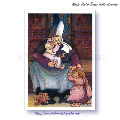 Mamie Tendresse. Carte postale Les Bigoudènes de Nicole Pastor