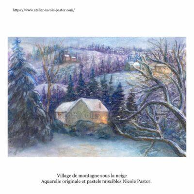village-ardeche-sous-la-neige