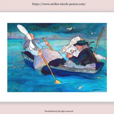 La Barque. Les Bigoudènes de Nicole Pastor