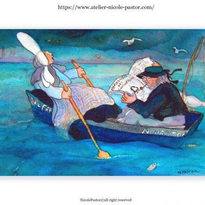 Aquarelles digigraphiques format carte (15x21)