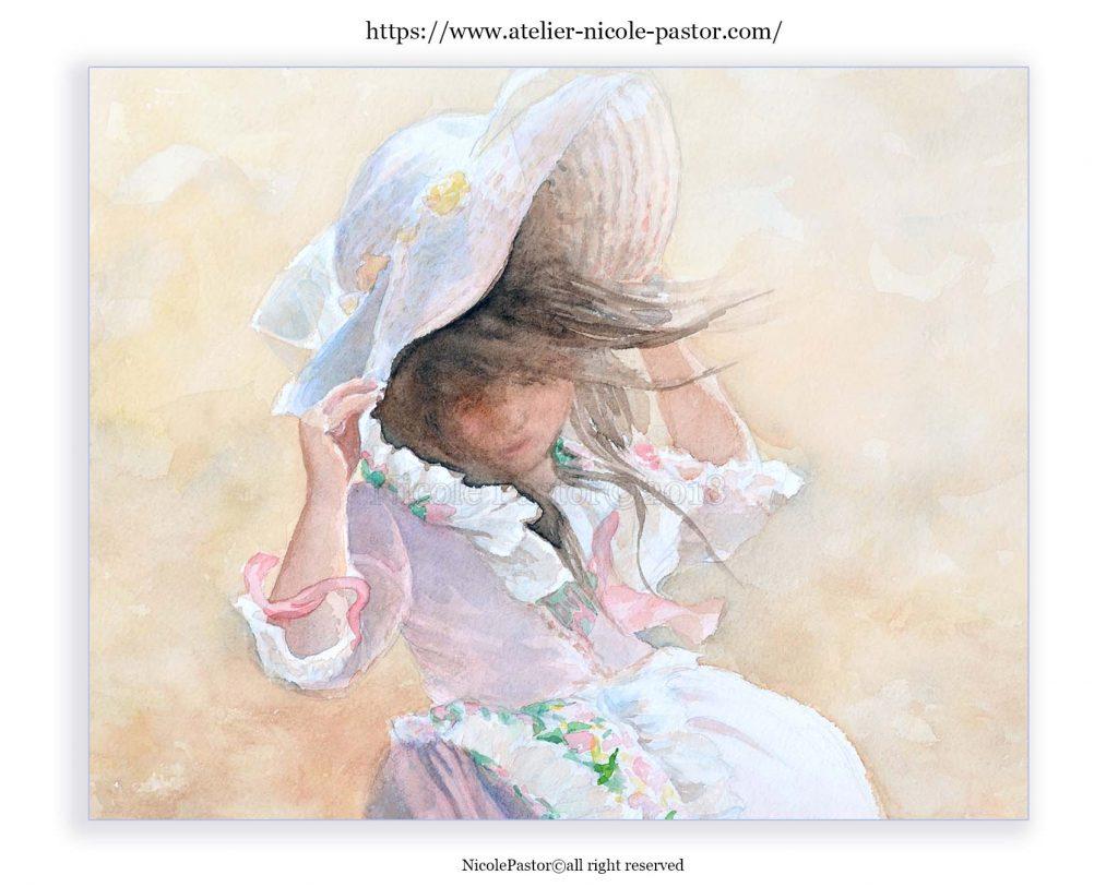 aquarelle-digigraphie-petite-fille-5