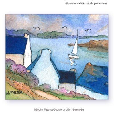 Paysage breton en hiver