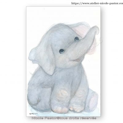 Un petit éléphant bien attachant