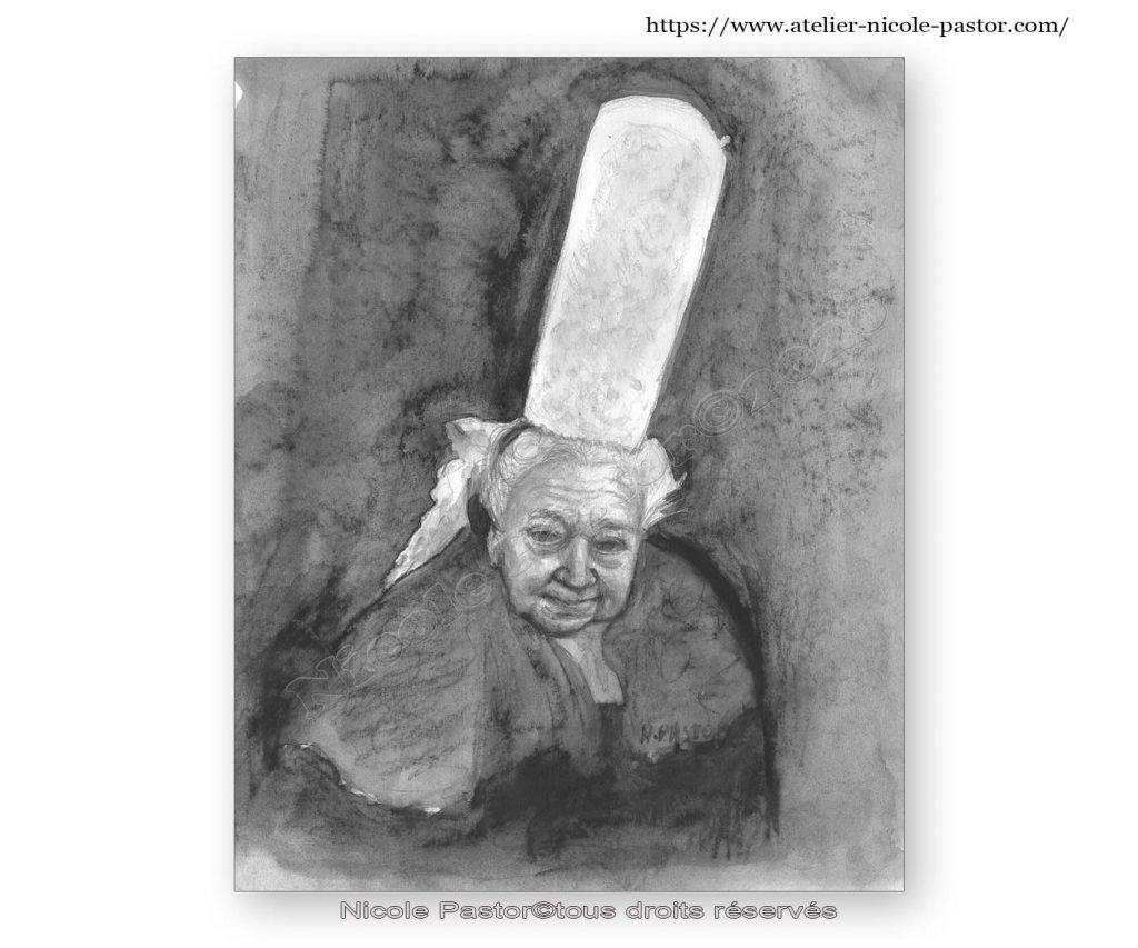 Portrait d'Alexia au fusain