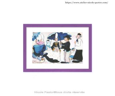 Mariage par grand vent en pays bigouden. Cadre violet