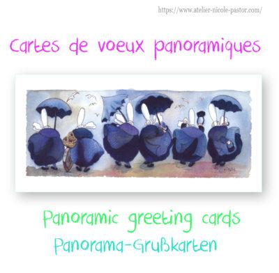 Cartes de voeux panoramiques