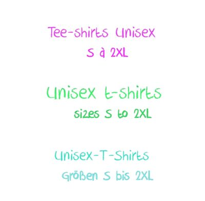 Tee-shirts Unisex S à 2XL
