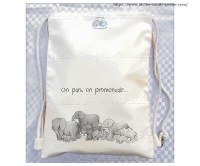 Sac ecole pour enfants ou sac de bebe personnalisable